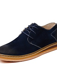 Men's Shoes Cowhide Spring Summer Fall Boots Walking Shoes Booties/Ankle Boots Split Joint For Brown Navy Blue Blue Khaki