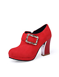 Women's Heels Contemporary Fashion Leatherette Spring Fall Party Birthday Party/Evening Graduation Thank You Contemporary FashionChunky