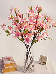 cheap -11 Head Small Magnolia Wood Artificial Bouquet for Home Decor and Wedding Decorations