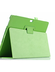 For Case Cover with Stand Flip Full Body Case Solid Color Soft PU Leather for Microsoft Surface3  10.8''