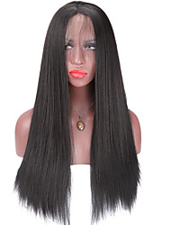 cheap -Glueless Synthetic Lace Front Wigs Light Yaki Straight Hair Wig For African Americans Black Women