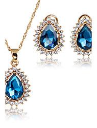 Set di gioielli Ciondoli I monili nuziali Zirconi Di tendenza Vintage Adorabile Euramerican Stile semplice Classico Zircone cubico Strass