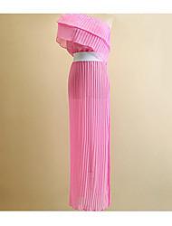 Damen Spitze Kleid Sexy Solide Asymmetrisch Asymmetrisch Ärmellos Kunstseide Sommer Herbst Hohe Hüfthöhe Mikro-elastisch Dünn