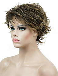 cheap -Women's Short Straight Hair wig Layered Messy Hairstyles Synthetic Full Wig
