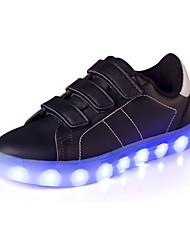 Da ragazzo Sneakers Comoda Scarpe luminose Finta pelle Estate Autunno Casual Piatto Oro Bianco Nero Rosso Piatto