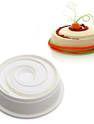 1 Piece Round Spiral Shaped Big Roses Silicone Mousse Pan Cake Mold Non Stick Baking Decoration Tools m-36