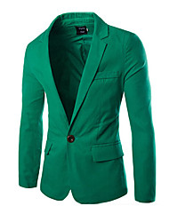 cheap -Men's Blazer Peaked Lapel Long Sleeve