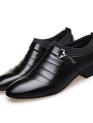 cheap -Men's Formal Shoes PU(Polyurethane) Spring / Fall Business Boots Walking Shoes Black / Brown / Wedding / Party & Evening