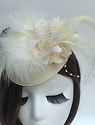 cheap -Fascinators Hats Headpiece Wedding Party Elegant Feminine Style