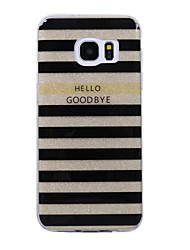 cheap -For Samsung Galaxy S8 S8 Plus Case Cove Stripe Pattern Flash Powder IMD Process TPU Material Phone Case S7 S6 Edge