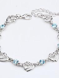 abordables -Mujer Cadenas y esclavas Joyas Naturaleza Moda Cosecha Hecho a mano Cristal Legierung Forma Redonda Forma Cuadrada Forma de Corazón Joyas