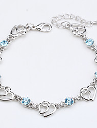cheap -Women's Chain Bracelet - Crystal Heart Vintage, Natural, Fashion Bracelet Light Purple / Blue / Pink For Wedding / Party / Anniversary