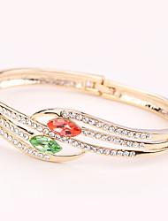 Women's Cuff Bracelet Jewelry Natural Fashion Vintage Handmade Rhinestone Alloy Heart Irregular Jewelry For Wedding Party Anniversary