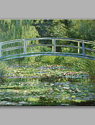 cheap -Oil Painting Hand Painted - Landscape Classic & Timeless Modern / Contemporary Canvas
