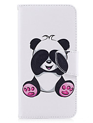 cheap -For iPhone 7Plus 7 Phone Case PU Leather Material Giant Panda Pattern Painted Phone Case 6s Plus 6Plus 6S 6 SE 5s 5