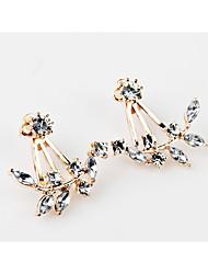 abordables -Femme / Fille Fleur Diamant synthétique Boucles d'oreille goujon - Personnalisé / Fleur / Géométrique Or / Argent / Or Rose Des boucles