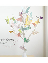 20 / Package Three-dimensional Hollow Out the Pearl Paper Butterfly Wedding Wedding Paper Flowers Decorative Wall Stickers Refrigerator Studio Window