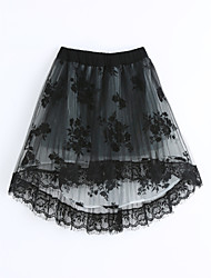 cheap -Girls' Lace Skirt,Cotton Summer Black
