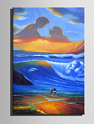 cheap -Mini Size E-HOME Oil painting Modern Great Maternal Love Pure Hand Draw Frameless Decorative Painting