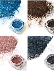 4bottles/set 0.2g/bottle Fashion Gorgeous Laser Glitter Holographic Fine Powder Colorful Shining Design Nail Art DIY Charm Pigment Decoration JX13-16