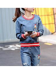 T-shirt Pantalone Completi abbigliamento Da donna Primavera Rotonda Maniche a 3/4