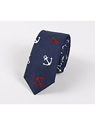 cheap -Tie men anchor printed cotton the fashion leisure skinny British wind