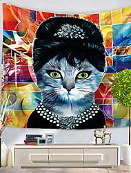 Недорогие -Декор стены 100% полиэстер С узором Абстракция Предметы искусства,Стена Гобелены из 1