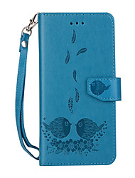 cheap -For iPhone 8 iPhone 8 Plus Case Cover Card Holder Wallet with Stand Flip Pattern Magnetic Full Body Case Cartoon Feathers Animal Hard PU