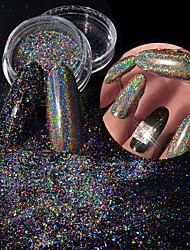 cheap -Laser Colorful Powder Dust Shell Colorful Nail Art Decoration