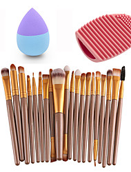 20pcs Eye Brush Palm Gold &Small Liquid Latex Water Droplet Puff &Makeup Brush Eggs