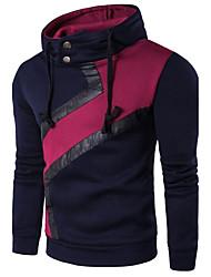 cheap -Men's Long Sleeve Sweatshirt - Color Block