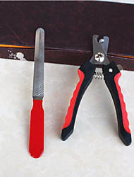 cheap -Cat Dog Grooming Health Care Cleaning Scissor Nail File Portable Black/Red