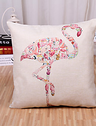 1 Pcs Creative European Style Ostrich Printing Pillowcase Square Cotton/Linen Pillow Cover