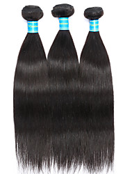 cheap -Brazilian Hair Straight Human Hair Weaves 3 Pieces Natural Color Hair Weaves
