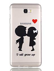 economico -Custodia Per Samsung Galaxy J7 Prime J5 Prime Transparente Fantasia/disegno Custodia posteriore Con cuori Morbido TPU per J7 (2016) J7