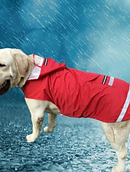 Cat Dog Hoodie Rain Coat Dog Clothes Casual/Daily Waterproof Solid Blue Ruby