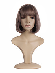cheap -Short and Straight  Bobo Light Purple color Head Sweet Synthetic Wigs