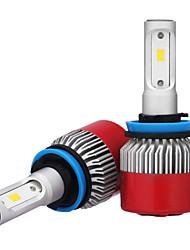 economico -2pcs h8 h9 h11 7200lm csp led del faro 72 w led auto fari lampadina della luce di nebbia 6500 k 12 v