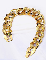 cheap -18K Gold Plated Chain Link Curve Bracelet Luxury Unique Stainless Steel Jewelry Gift