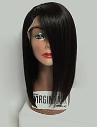 2017 горячие продавая бразильские виргинские волосы bob парики прямые шнуруют фронт человеческие волосы парики короткие remy виргинские