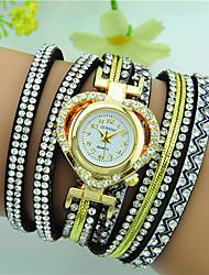 Women's Bracelet Watch Quartz Rhinestone Heart shape Bohemian