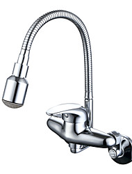 Traditionnel Moderne Débit Normal Pot Filler Set de centre Soupape céramique Chrome , Robinet de Cuisine