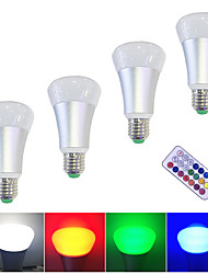 cheap -4pcs 10 W 800 lm E26 / E27 LED Smart Bulbs 6 LED Beads SMD 5050 Timing / Dimmable / Remote-Controlled Warm White / White / RGBW 85-265 V / 4 pcs / RoHS
