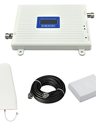 cheap -DCS 1800mhz Cell Phone Signal Booster DCS980 Signal Amplifier with Log Periodic Antenna / Panel Antenna / Cable / LCD Display / White