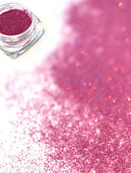 cheap -0 2g bottle fashion sweet style purple red diy charm nail art laser glitter holographic fine powder shining pigment decoration jx17