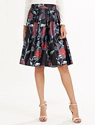 abordables -Mujer Clásico Columpio Faldas Patrón