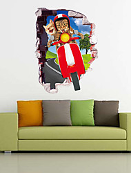 Animaux Vacances Loisir Stickers muraux Autocollants avion Autocollants muraux décoratifs 3D,Papier Matériel Décoration d'intérieurCalque