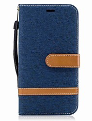 cheap -For Motorola G5 Plus G5 Case Cover Card Holder Wallet with Stand Flip Magnetic Full Body Case Color Blocks Hard Textile for Motorola G4 Plus G4