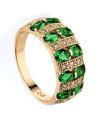 cheap -Women's Ring Synthetic Emerald Unique Design Fashion Euramerican Zircon Alloy Jewelry Jewelry For Wedding Special Occasion Anniversary