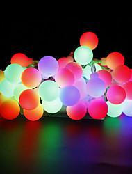 preiswerte -W Leuchtgirlanden lm AC220 AC 110-130 10 m 100 Leds Warmweiß Weiß Rot Gelb Blau Rosa Mehrfarbig